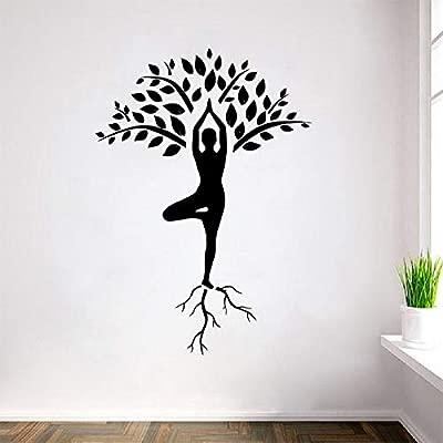 Árbol de yoga de gran tamaño calcomanías de pared decoración ...