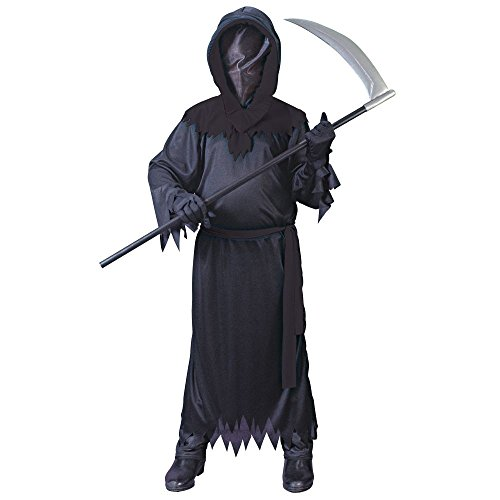 Big Boys' Black Faceless Ghost Costume - L