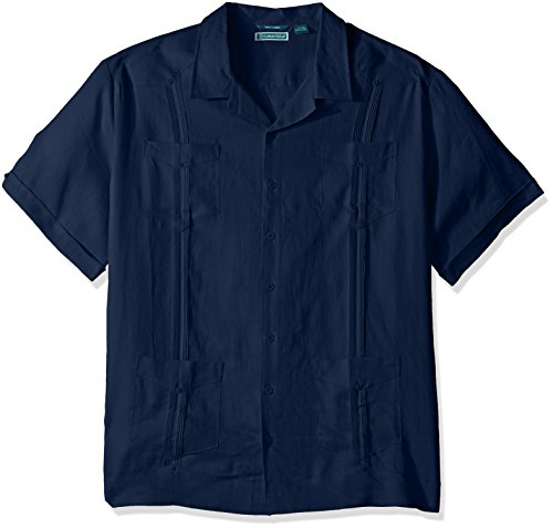 Cubavera Men's Big Short-Sleeve 100% Linen Guayabera Shir...