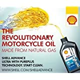 Shell Advance Ultra 4T 15w-50 Full Synthetic Motorcycle Oil 1 LiterX4 with Filter+Crush washer