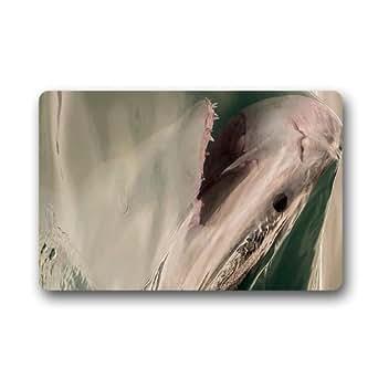 Jirafa de equitación Shark never Stop Dreaming mar bajo el agua mundo bpt4Custom Non slip interior/exterior Door mats Doormats (23,6x 39,88cm)