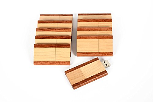 20 8GB Flash Drive - Bulk Pack - USB 2.0 Wooden Maple Timber Design Walnut Trim - 8 GB Maple Timber Flash Drive with Walnut Trim by SameDayFlash
