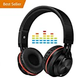 Wireless Active Noise Cancelling Headphones with Mic,Alteng Hi-Fi 30H Playtime Travel Foldable Over-Ear Stereo Sound Headset,Comfortable Protein Earpads,Non-Sound Leakage for Travel Work TV Computer