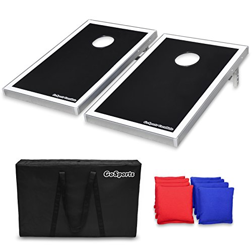 (GoSports CornHole Bean Bag Toss Game Set - Superior Aluminum Frame)
