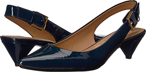 Calvin Klein Women's Lara Pump, Deep Navy, 8 Medium US by Calvin Klein