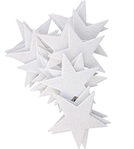 Playfully Ever After 3 Inch White 22pc Felt Star Stickers