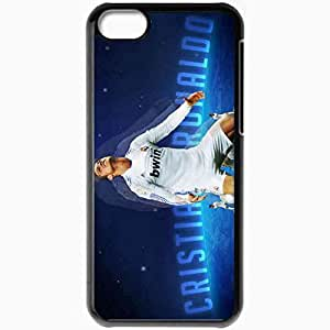 Personalized iPhone 5C Cell phone Case/Cover Skin Imaginative popular cristiano ronaldo manchester united Black