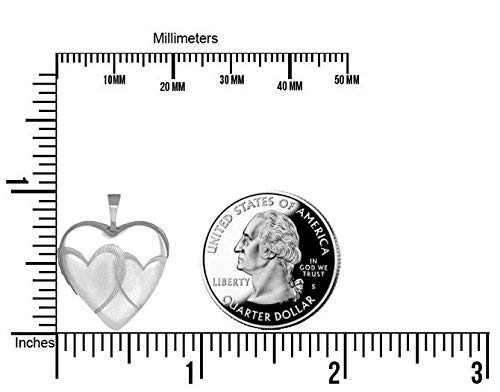 PicturesOnGold.com Sterling Silver Interlocking Hearts Heart Locket 3//4 Inch X 3//4 Inch with Engraving