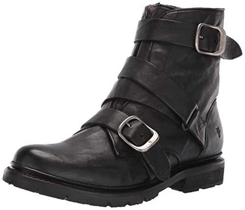 FRYE Women's Vanessa Tanker Ankle Boot, Black, 7.5 M US
