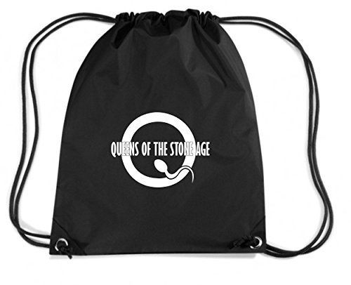 Stone geek Budget The Of Queens Island Gymsac Cotton Age T0983 Black Backpack fun cool 84wAqqE7