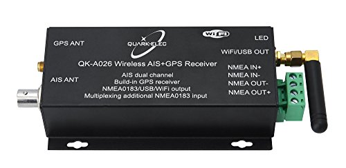 Wireless AIS Receiver with GPS and NMEA. (QK-A026)