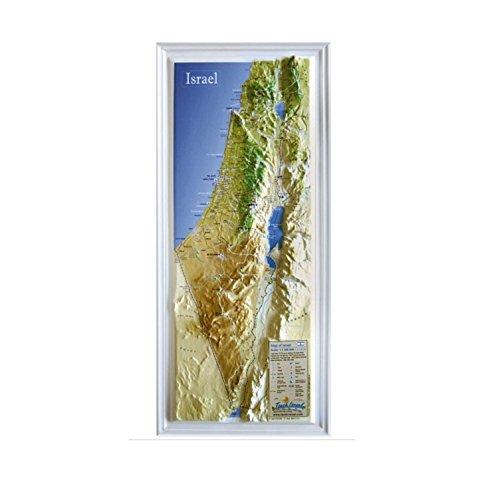 (Raised Relief 3D Map of Israel (MEDIUM: 14.5 x 6.5))