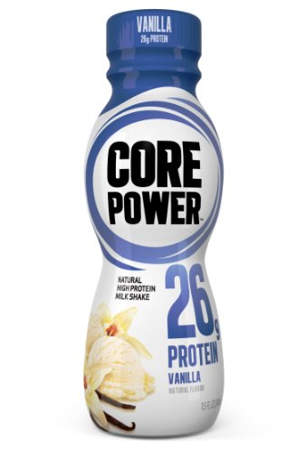 Core Power Natural High-Protein Milk Shake, Vanilla, 11.5-Ounce Bottles (Pack of 12)