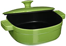 KitchenAid KCLI30CRKI Streamline Cast Iron 3-Quart Casserole Cookware - Kiwi