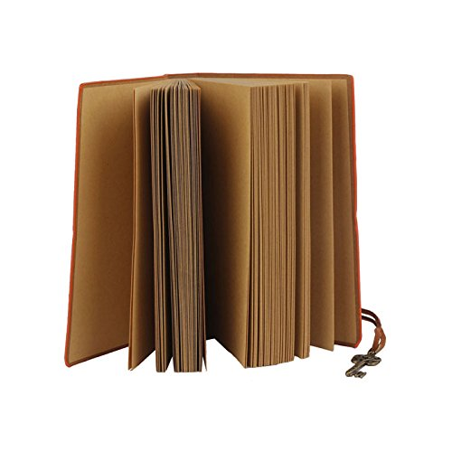 Meily(TM) 160 Page Classic Vintage Leather Blank Pages Journal Diary Notebook