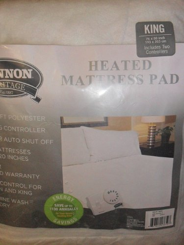 CANNON HERITAGE HEATED MATTRESS PAD KING