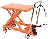 Air Scissor Lift - BAIR-D Series; Construction: Steel; Platform Size (W x L): 24''x 47-1/4''; Capacity (LBS): 2,000; Service Range: 15'' to 39-1/2''; Caster Size: 6'' x 2''