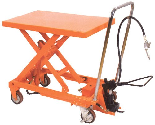 Air Scissor Lift - BAIR-D Series; Construction: Steel; Platform Size (W x L): 19-3/4'' x 32-1/2''; Capacity (LBS): 1,000; Service Range: 15-3/4'' to 35-1/2''; Caster Size: 5'' x 1-1/2'' by Beacon World Class Products