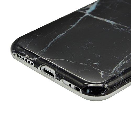 Funda para iPhone 5 / iPhone SE / iPhone 5S Sunroyal Premium Mármol Suave TPU Carcasa Parachoques Bumper Tapa Flexible Silicona Portátil Protectora Absorción de Golpes Case Ultra Delgado Caja del Telé A-01