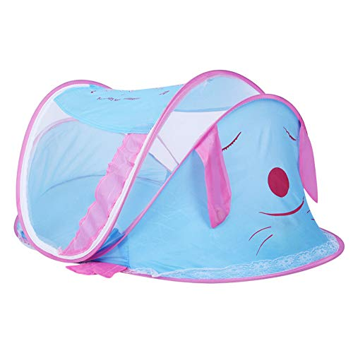 CFYLJ Baby Crib Mosquito Net,0-2 Year Old Baby Cartoon Puppy Travel Bed Portable Folding Cots Breathable Pop Up Tent, No Harmful Chemicals,A