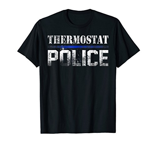 Thermostat Police Officer Thin Blue Line Cop Dad