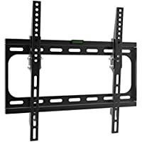Charmount Fixed TV Wall Mount Bracket 26-55 inch LED, LCD Plasma TVs up to VESA 400x400 66 lbs Loading Capacity Fits Flat Panel Screen Display Tilting, Low Profile TV Bracket