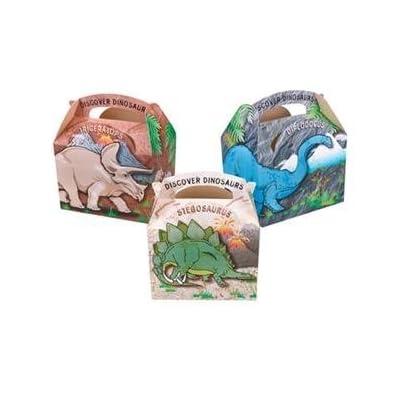 10 pour enfants Motif dinosaure boîtes repas fête d'anniversaire Sac de pique-nique