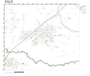 Zip Code Wall Map Of Beebe Ar Zip Code Map Laminated Home Kitchen