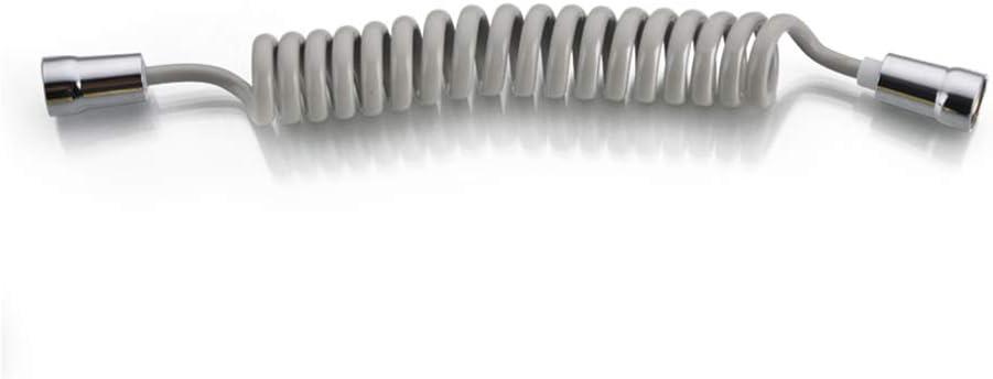 Pistola spruzzatore Accessori da Bagno Tubo Flessibile per Doccia con Molla per Acqua idraulica WC Tubo ABS Bianco Bidet MH