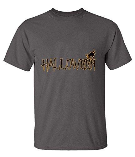 ReRabbit halloween cat Tees For Men XXXL heavyGray]()