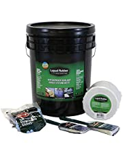 Liquid Rubber Waterproof Sealant - Multi-Surface Leak Repair Indoor and Outdoor Coating, Water-Based, Easy to Apply