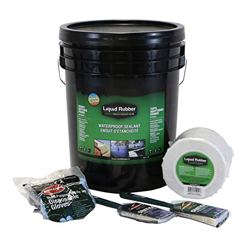 Liquid Rubber Waterproof Sealant Kit, Black 5 Gal
