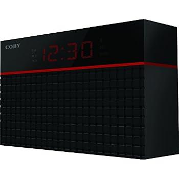 Amazon Com Coby Crabt 100 Blk Bluetooth Alarm Clock Home