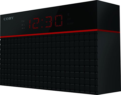 Coby CRABT-100-BLK Bluetooth Alarm Clock