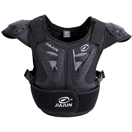 Children's Professional Armor Vest Protective Gear Jackets Guard Shirt For Dirtbike Motocross Skiing Snowboarding Dirt Bike Body Chest Spine Protector Back Motorcycle Support (Black, S)