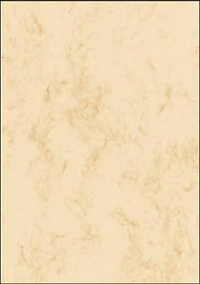 SIGEL DP907 Papel de cartas, 14,8 x 21 cm, 90g/m², mármol beige claro, 100 hojas