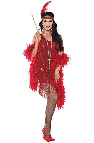 Swingin' Flapper Costumes (1920's Swingin Flapper Women Adult Costume (Red))