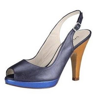 Vestir Azul Pumps Dini Patrizia Para De Zapatos Cuero Mujer qUIxxw85