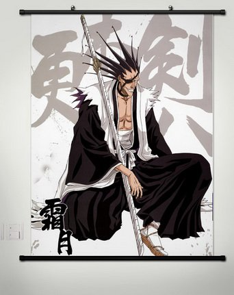 Wall Scroll Poster Fabric Painting For Anime BLEACH Zaraki K