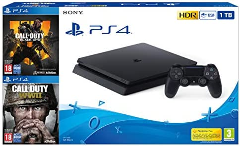 PlayStation 4 (PS4) - Consola 1 TB + COD Black Ops IIII + COD WW2: Sony: Amazon.es: Videojuegos
