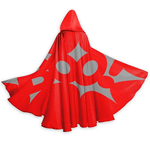 Halloween Pumpkin Carving Stencils Boo, Hooded Cloak Long Cape for Christmas Halloween Cosplay Costumes for Women Man 59 Inches Black