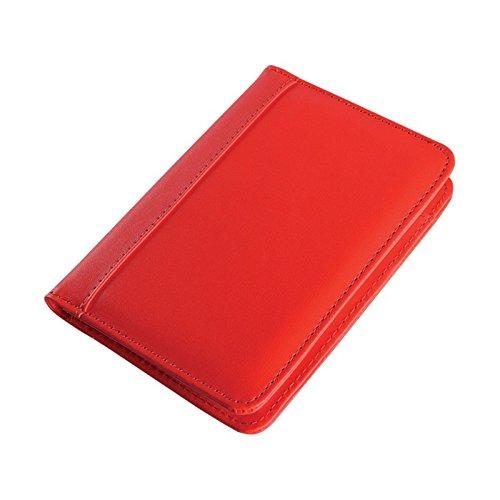 Taccuino portablocco con calcolatrice e pennanotice in ecopelle e vari colori - Rosso Agendepoint.it