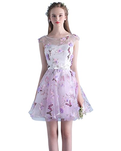 Kleid A Violett Drasawee Damen Linie vaq5WxAtw