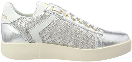 Pantofola d'Oro Lecce Pailette Donne Low, Sneaker Donna Argento (Silver)