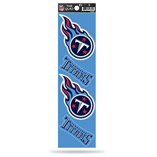 (Rico Industries NFL Tennessee Titans Die Cut 4-Piece The Quad Sticker Sheet)