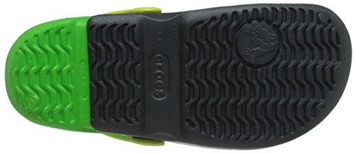 Crocs Hale - Zuecos de Goma, Niños Graphite/Neon Green