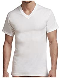 Stanfield's Men's Cotton Big and Tall Vneck Undershirt (2 Pack)