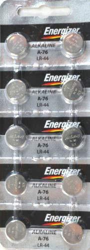 Strip of 10 Energizer A76 (LR44) 1.5v Alkaline ()