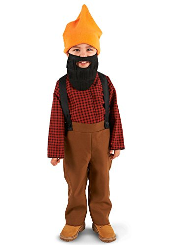 Lumberjack Costume Girl (Bearded Baby Lumberjack Toddler Costume 2-4T)