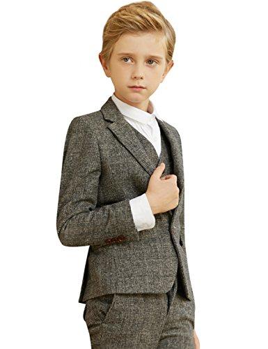 ELPA ELPA Boys Dress Suit 5 Piece Children Dress Show Casual Gray Suit by ELPA ELPA